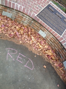 There was a lot of chalk writing on the ground that day, so I'm glad my students figured it out.